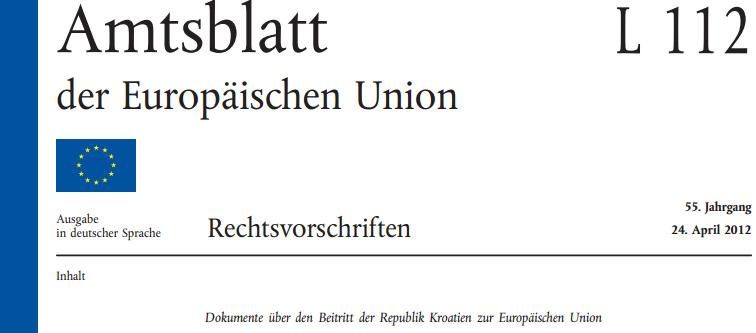Amtsblatt EU Kroatien